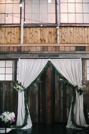 Elegant Greenery Ceremony Backdrop