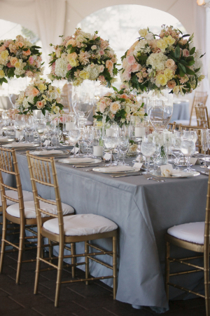 Elegant Ivory and Blue Tabletop