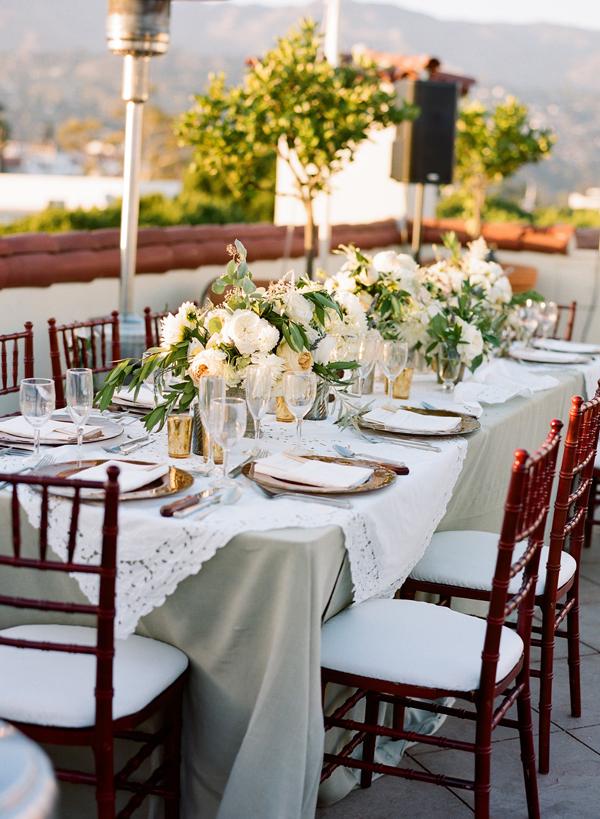 Elegant Olive and Ivory Tabletop