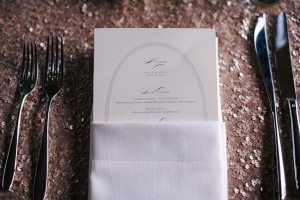 Elegant Reception Menu Stationery