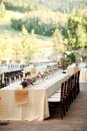Elegant Stone Patio Reception Venue