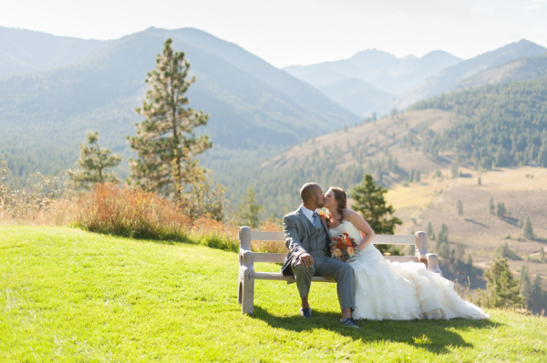 Fall Desert Wedding Couple