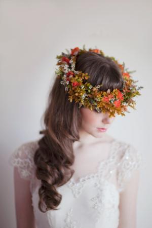 Fall Wedding Crown