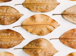 Fall Leaf Escort Cards