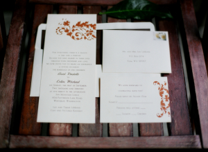 Fall Wedding Stationery With Rust Details