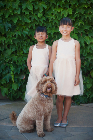 Flower Girls with Dog