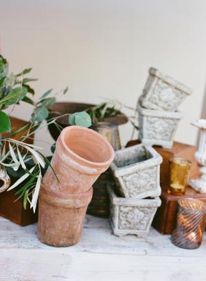 Flower Pot Wedding Decor