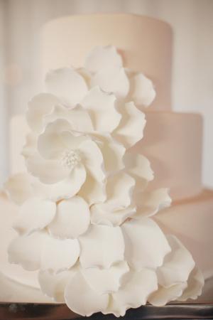 Fondant Flower Petal Cake