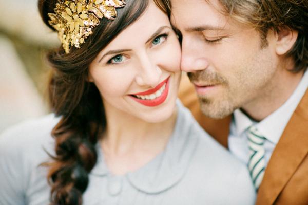 Gold Headband with Braid