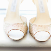 Gold Jimmy Choo Bridal Shoes