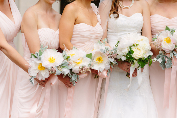 Gorgeous Fluffy White Bouquets