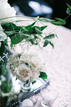 Greenery in Reception Flowers