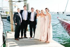 Groomsmen and Bridesmaids on Dock