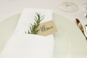 Herbs at Place Setting