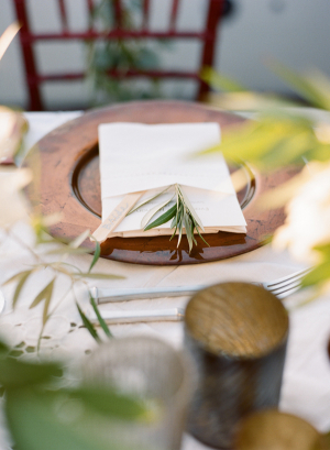 Herbs at Place Settings