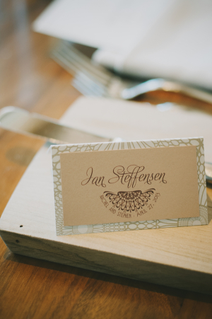 Intricate Classic Reception Place Card