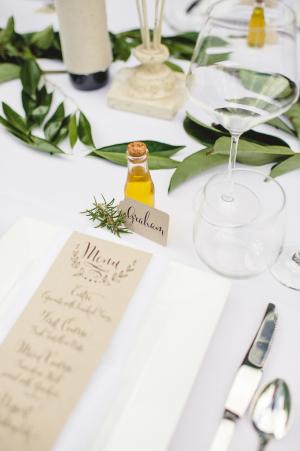 Italian Inspired Wedding Tabletop