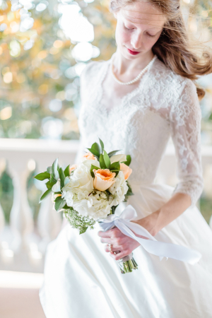 Ivory Peach Bouquet