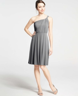 Jersey Gray Gown Ann Taylor