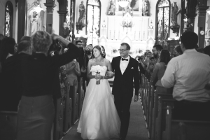 Just Married Cathedral Wedding
