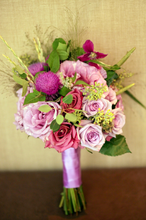Lavender and Pink Bridal Bouquet