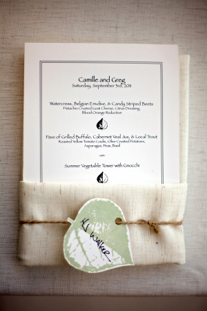 Leaf Motif Wedding Stationery