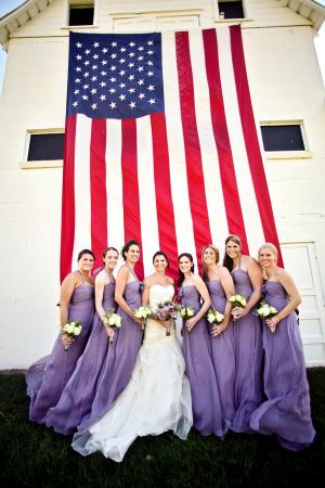Long Lavender Bridesmaids Dresses