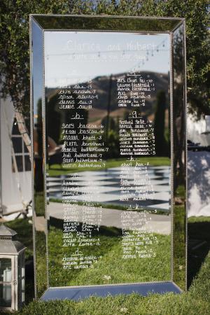 Mirror Seating Chart