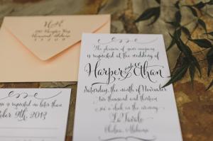 Modern Calligraphy Wedding Invitation