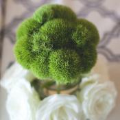 Modern Green White Centerpiece