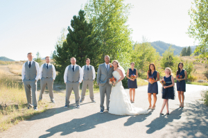 Navy and Gray Bridal Party