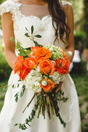 Orange and Greenery Bouquet