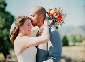 Orange and Yellow Fall Wedding Flowers