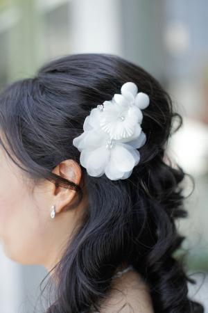 Orchid Hair Clip Bridal Hair Ideas