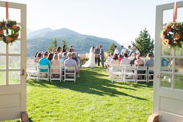 Outdoor Mountaintop Wedding Ceremony