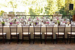 Outdoor Reception with Chivari Chairs