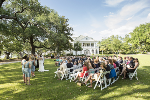 Outdoor Wedding Ceremony at Charleston Plantation