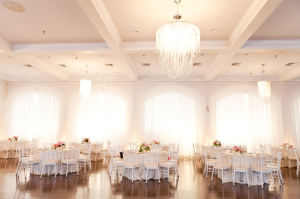 Pale Pink and Cream Ballroom Reception Decor