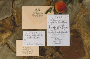 Peach and White Stationery