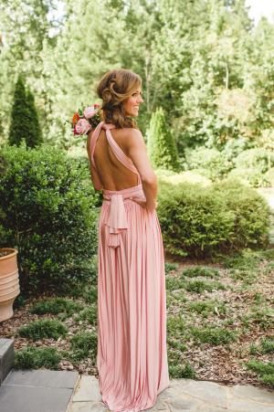 Pink Flowing Bridesmaids Dress
