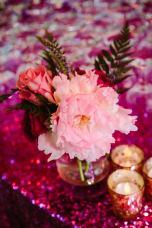 Pink Glitter Linen