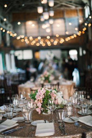 Pink and Green Rustic Elegant Wedding