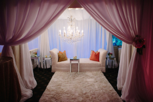 Pink and White Elegant Lounge Area