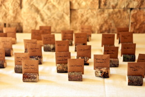 Place Cards in Mini Birchwood Logs