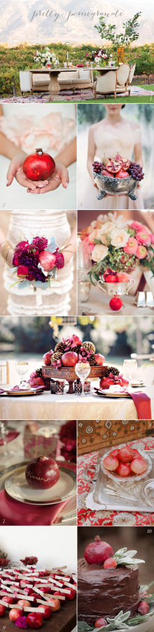 Pomegranate Wedding Ideas