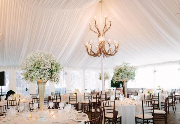 Pretty White Tented Wedding Reception