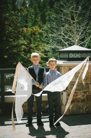 Ring Bearers with Flags