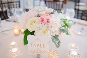 Romantic Cream and Pink Florals Reception Decor