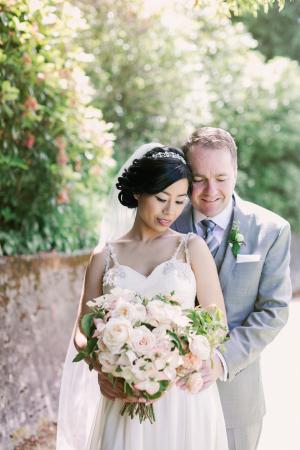 Romantic Outdoor Wedding Portrait Michele M