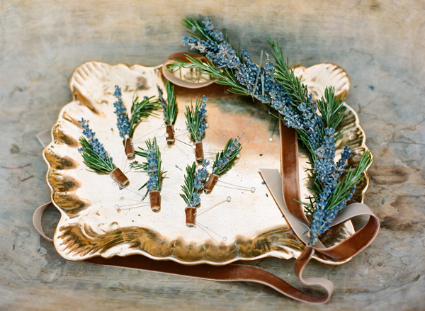 Rosemary and Lavender Boutonnieres